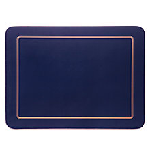 Buy John Lewis Classic Navy Placemats, Set of 6 Online at johnlewis.com