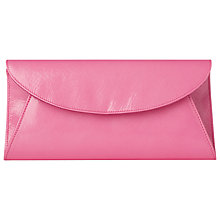 Buy L.K. Bennett Flo Saffiano Patent Leather Clutch Bag, Candy Online at johnlewis.com
