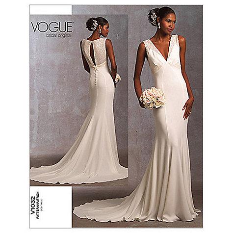 Buy Vogue Bridal Women S Gown Sewing Pattern 1032 John