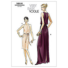 Buy Vogue Women's Dresses Sewing Pattern, 8241 Online at johnlewis.com
