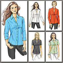 Buy Vogue Women's Shirt Sewing Pattern, 8747 Online at johnlewis.com