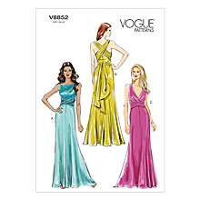 Buy Vogue Women's Gown Sewing Pattern, 8852 Online at johnlewis.com