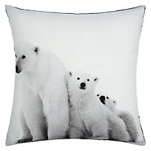 Buy John Lewis Polar Bear Cushion Online at johnlewis.com