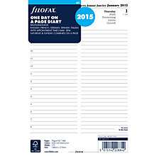 Buy Filofax A5 Organiser Inserts, Day Per Page Diary 2015, White Online at johnlewis.com
