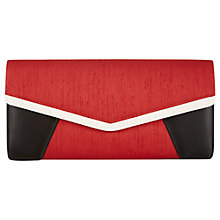 Buy Jacques Vert Three Colour Clutch Bag, Red Online at johnlewis.com