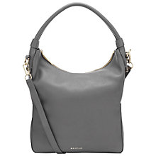 Buy Whistles Belgrave Simple Leather Hobo Bag, Grey Online at johnlewis.com