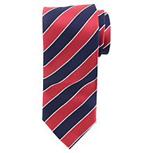 Buy John Lewis Large Regimental Stripe Tie Online at johnlewis.com