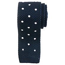 Buy John Lewis Heavy Knitted Polka Dot Tie Online at johnlewis.com