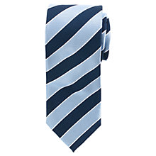 Buy John Lewis Regimental Stripe Tie, Navy/Blue Online at johnlewis.com