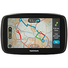 Buy TomTom GO 50 GPS Navigation System, Free Lifetime Western Europe Maps Online at johnlewis.com