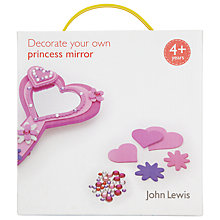 Buy John Lewis Decorate Your Own Princess Mirror Online at johnlewis.com
