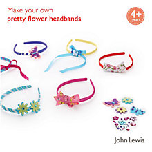 Buy John Lewis Make Your Own Pretty Flower Headbands Online at johnlewis.com