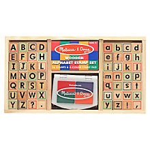 Buy Melissa & Doug Alphabet Stamp Set Online at johnlewis.com