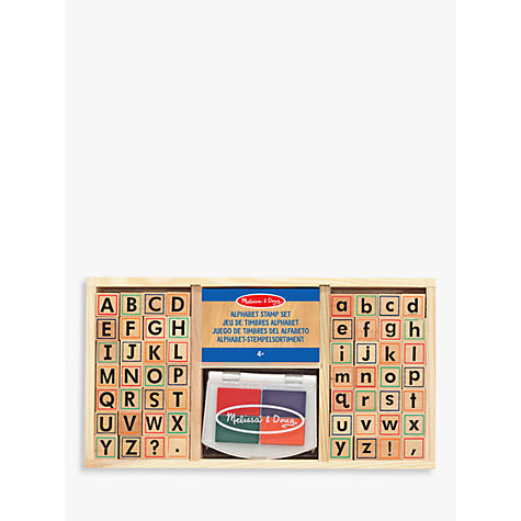 Buy Melissa Amp Doug Alphabet Stamp Set John Lewis