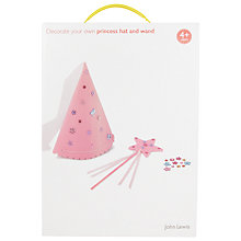 Buy John Lewis Decorate Your Own Princess Hat and Wand Online at johnlewis.com