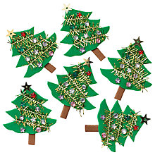 Buy John Lewis Mini Christmas Trees, Pack Of 6 Online at johnlewis.com