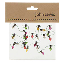 Buy John Lewis Christmas Lights Card Topper Online at johnlewis.com