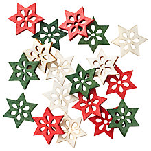 Buy John Lewis Wooden Small Stars, Pack Of 18 Online at johnlewis.com