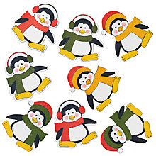 Buy John Lewis Wooden Penguin Stickers, Pack Of 8 Online at johnlewis.com