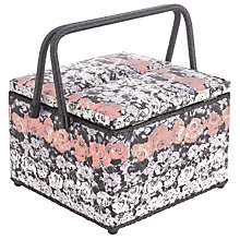 Buy John Lewis Blossom Twin Lid Sewing Basket, Multi Online at johnlewis.com
