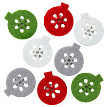 Buy John Lewis Felt Bauble Stickers, Pack Of 8 Online at johnlewis.com