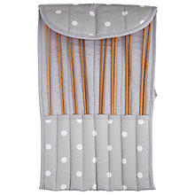 Buy John Lewis Grey Spot Knit Roll Online at johnlewis.com