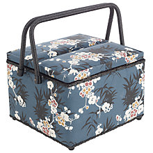 Buy John Lewis Japanese Floral Twin Lid Sewing Basket, Multi Online at johnlewis.com