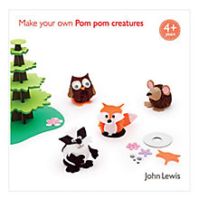 Buy John Lewis Make Your Own Pom Pom Creatures Online at johnlewis.com