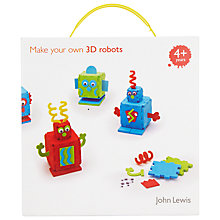 Buy John Lewis Make Your Own 3D Robots Online at johnlewis.com