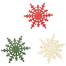 Buy John Lewis Wooden Large Snowflake, Pack Of 9 Online at johnlewis.com