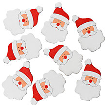 Buy John Lewis Wooden Santa Stickers, Pack Of 8 Online at johnlewis.com