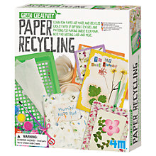 Buy Great Gizmos Paper Recycling Kit Online at johnlewis.com