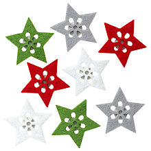 Buy John Lewis Felt Star Stickers, Pack Of 8 Online at johnlewis.com