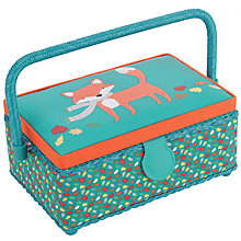 Buy John Lewis Fox Rectangular Sewing Basket, Green Online at johnlewis.com