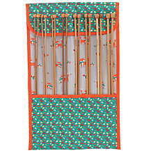 Buy John Lewis Fox Knitting Needle Roll & Needles Online at johnlewis.com
