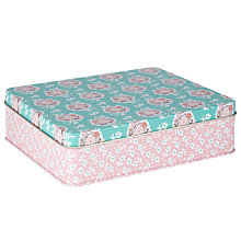 Buy John Lewis Pretty Floral Medium Storage Tin Online at johnlewis.com