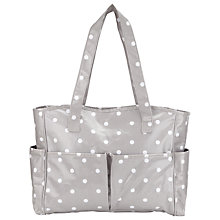 Buy John Lewis Grey Spot Craft Tote Online at johnlewis.com