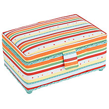 Buy John Lewis Bright Stripe Rectangular Sewing Basket Online at johnlewis.com