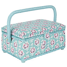 Buy John Lewis Pretty Floral Small Rectangular Filled Sewing Basket, Multi Online at johnlewis.com