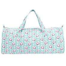 Buy John Lewis Floral Holdall Bag, Blue/Pink Online at johnlewis.com