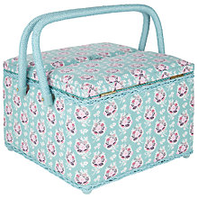 Buy John Lewis Pretty Floral Twin Lid Sewing Basket Online at johnlewis.com