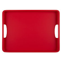 Buy John Lewis Scandi Wood Tray, Cranberry Online at johnlewis.com