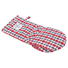Buy Lexington Check Oven Mitt, Red/Navy Online at johnlewis.com