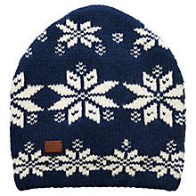 Buy Gant Hand Crafted Beanie Hat, Blue Online at johnlewis.com