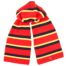 Buy Gant Block Stripe Scarf, Red Online at johnlewis.com