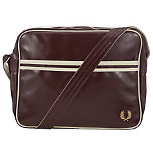 Buy Fred Perry Classic Shoulder Bag, Maroon Online at johnlewis.com