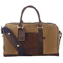 Buy Hackett London Canvas Holdall, Stone Online at johnlewis.com