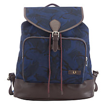 Buy Fred Perry Canvas Rucksack, Navy Online at johnlewis.com