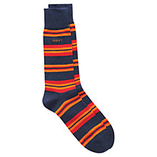 Buy Gant Stripe Socks, Dark Blue, One Size Online at johnlewis.com