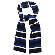 Buy Gant Block Stripe Scarf, Dark Blue Online at johnlewis.com